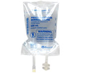 Practi-Dextrose Normal Saline™  500 mL I.V. Solution Bag (for training) 282DS