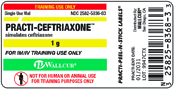 Practi-Ceftriaxone 1 mg Labels™  9947CTX