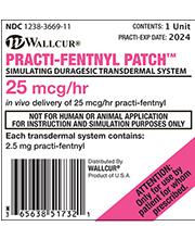 Fentanyl patch dose per hour