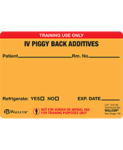IV Piggy Back Labels