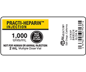 Practi-Heparin 1,000 Peel & Stick Labels  9913HMV