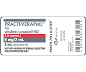 Practi-Verapamil Peel & Stick Labels
