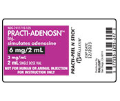 Practi-Adenosine Peel-N-Stick Labels