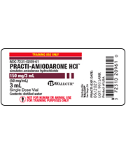 Practi-Amiodarone HCI Peel & Stick Labels
