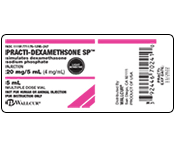 Practi-Dexamethsone Peel & Stick Labels