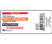 Practi-Furosemide Peel & Stick Labels