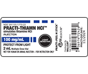 Practi-Thiamine HCI Peel & Stick Labels