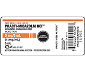 Practi-Midazolm HCI Peel & Stick Labels