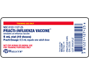 Practi-Influenza Vaccine™ 5 mL Peel-N-Stick Labels (for training) 9943FLZ